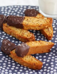 Salted Dark Chocolate Honey Biscotti
