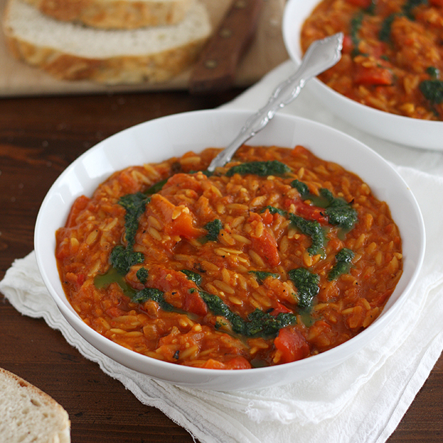 Chunky Red Pepper Soup