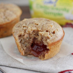 Jam-Filled Toasted Hazelnut Bran Muffins