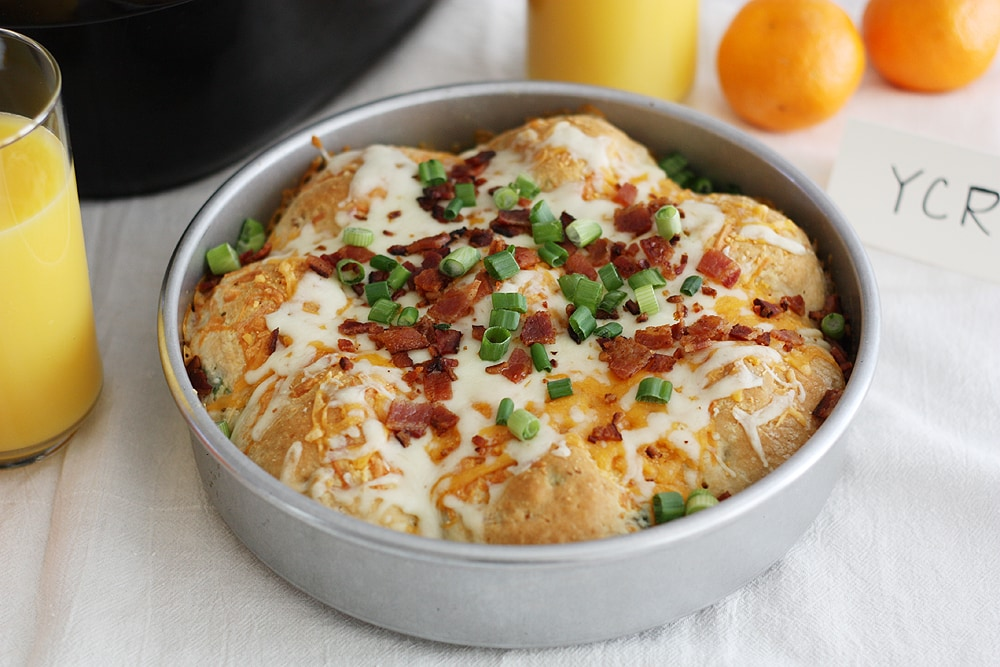 loaded mashed potato stuffed biscuits in pan
