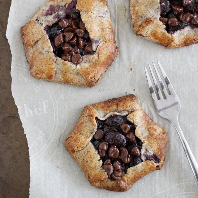 gluten free dark chocolate cherry hazelnut galettes