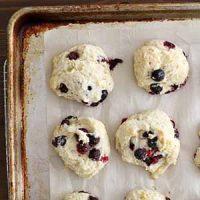 blueberry buttermilk drop biscuits