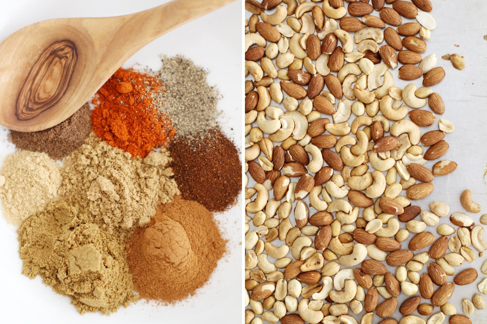 Moroccan spiced nuts ingredients
