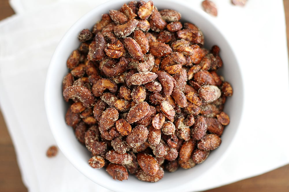bowl of Moroccan spiced nuts