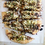caramelized spring onion fennel pizza