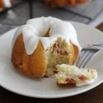 mini lemon-rhubarb bundt cakes