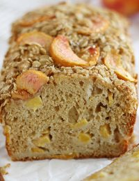 peaches and cream streusel bread