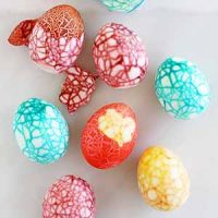crackled easter eggs