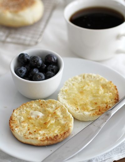 english muffins on a plate