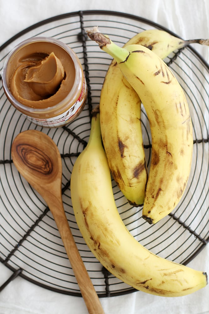 cookie butter and bananas