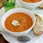 roasted summer veggie soup