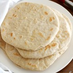 homemade soft flatbread
