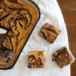 Nutella-swirled cappuccino cheesecake bars
