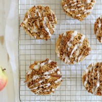 mini iced oatmeal cookie apple pies