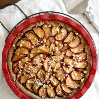 ginger plum pie