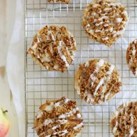 mini iced oatmeal cookie apple pies on cooling rack