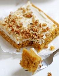butternut-pumpkin spice sheet cake