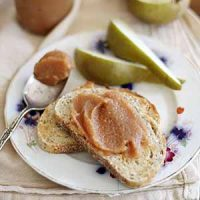 pear quince butter on bread