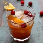 cranberry old-fashioned cocktail