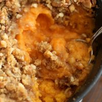 sweet potato casserole in dish
