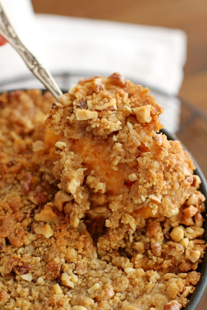 spoonful of sweet potato casserole