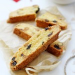 cherry, coconut and pistachio biscotti