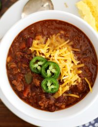 beef and red wine chili