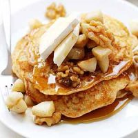 apple brie walnut pancakes