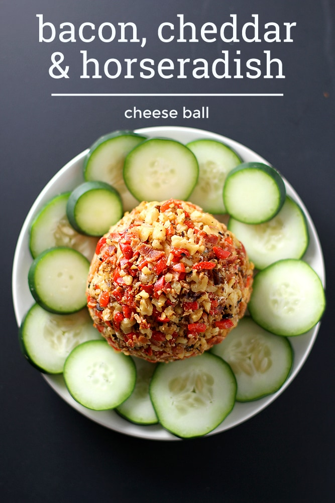 bacon cheddar horseradish cheese ball