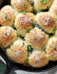 parmesan pesto skillet rolls
