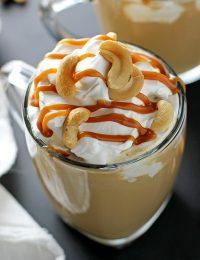 salted caramel cashew latte
