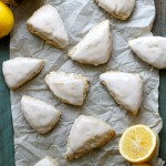 mini meyer lemon coconut scones