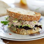 Brussels sprout tuna salad
