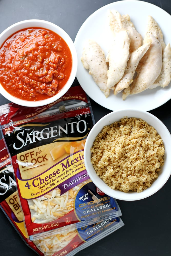 ingredients for cheesy mexican couscous casserole