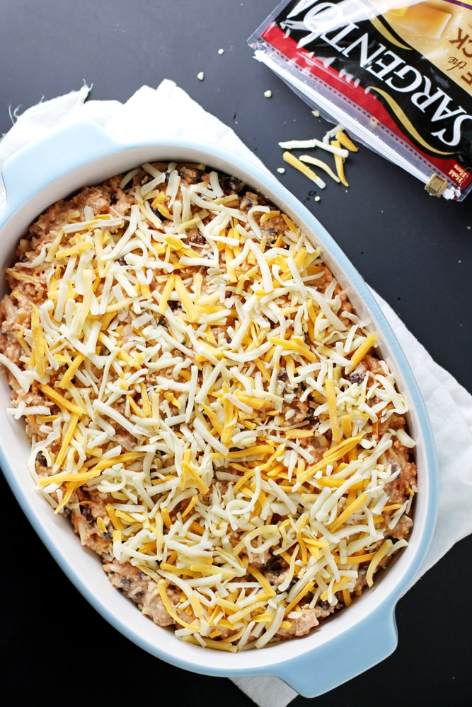 casserole in baking dish