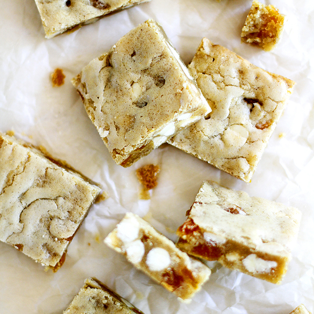 Brown Butter Apricot White Chocolate Blondies
