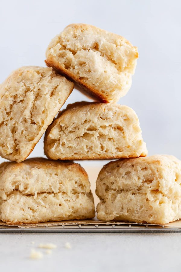 a stack of southern buttermilk biscuits
