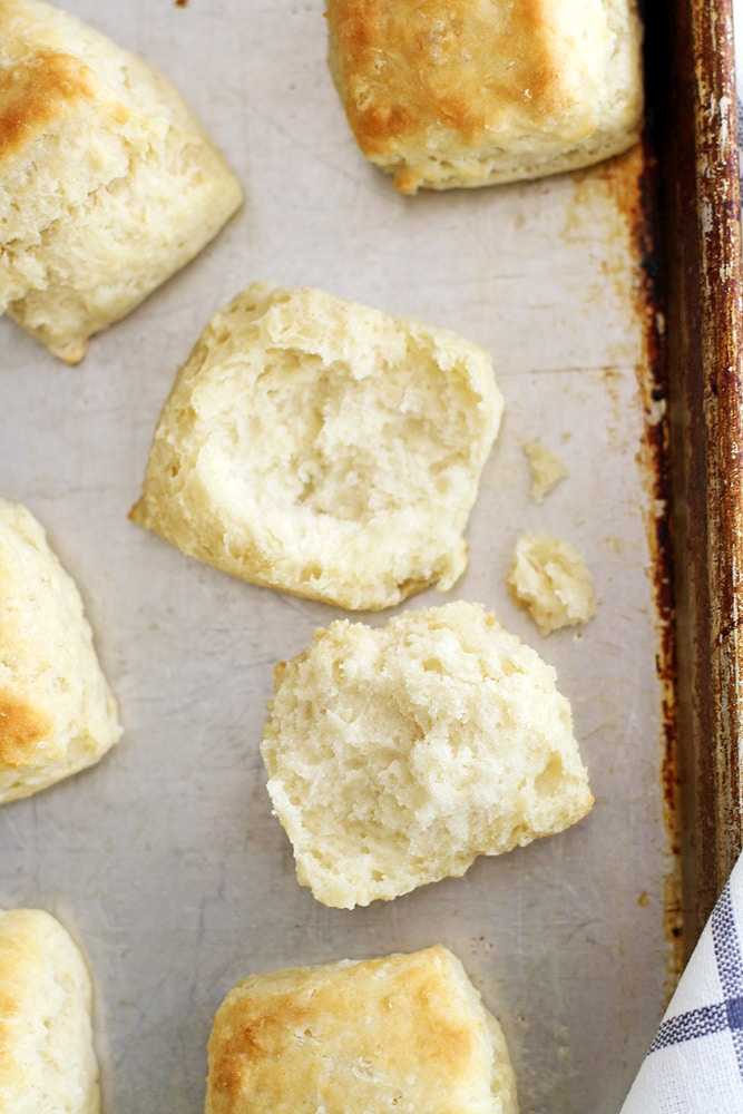 inside of flaky fluffy southern buttermilk biscuit