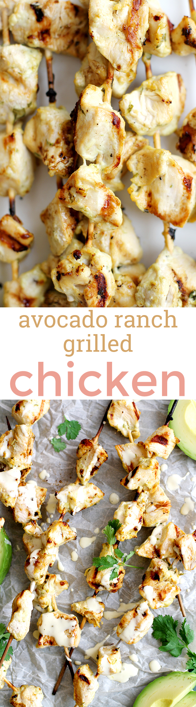 Avocado Ranch Grilled Chicken -- easy and flavorful, and perfect for a quick family-friendly summer meal! girlversusdough.com @girlversusdough