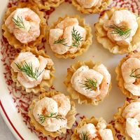 shrimp salad bites on a plate