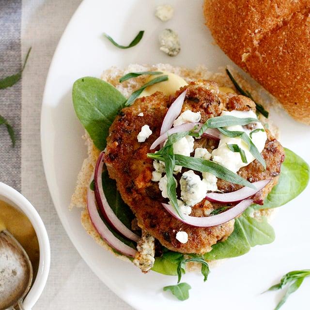 tarragon blue cheese turkey burgers