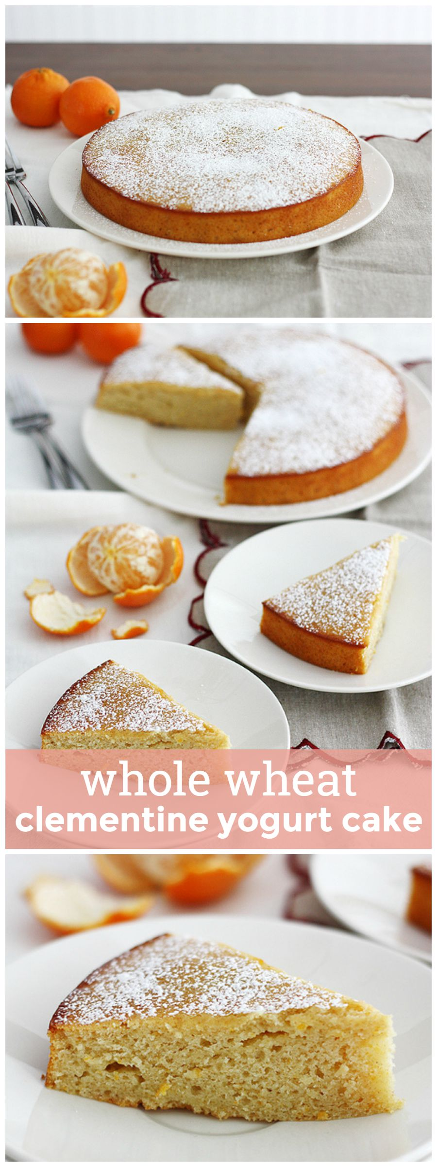 Whole Wheat Clementine Yogurt Cake -- this whole wheat cake is sweet, citrus-y and perfect for any occasion that calls for a treat. girlversusdough.com @girlversusdough