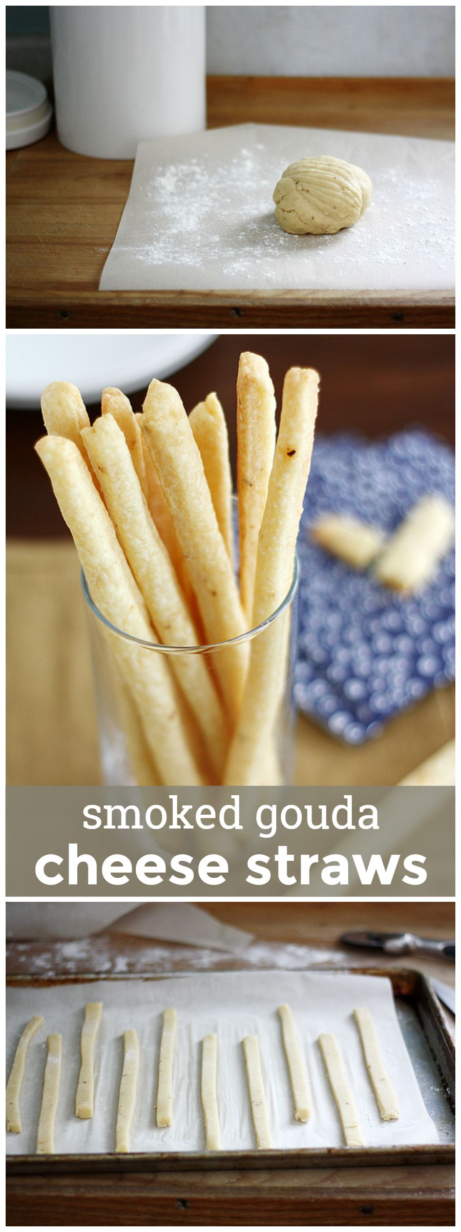 Smoked Gouda Cheese Straws -- the perfect easy, cheesy appetizer or snack! girlversusdough.com @girlversusdough