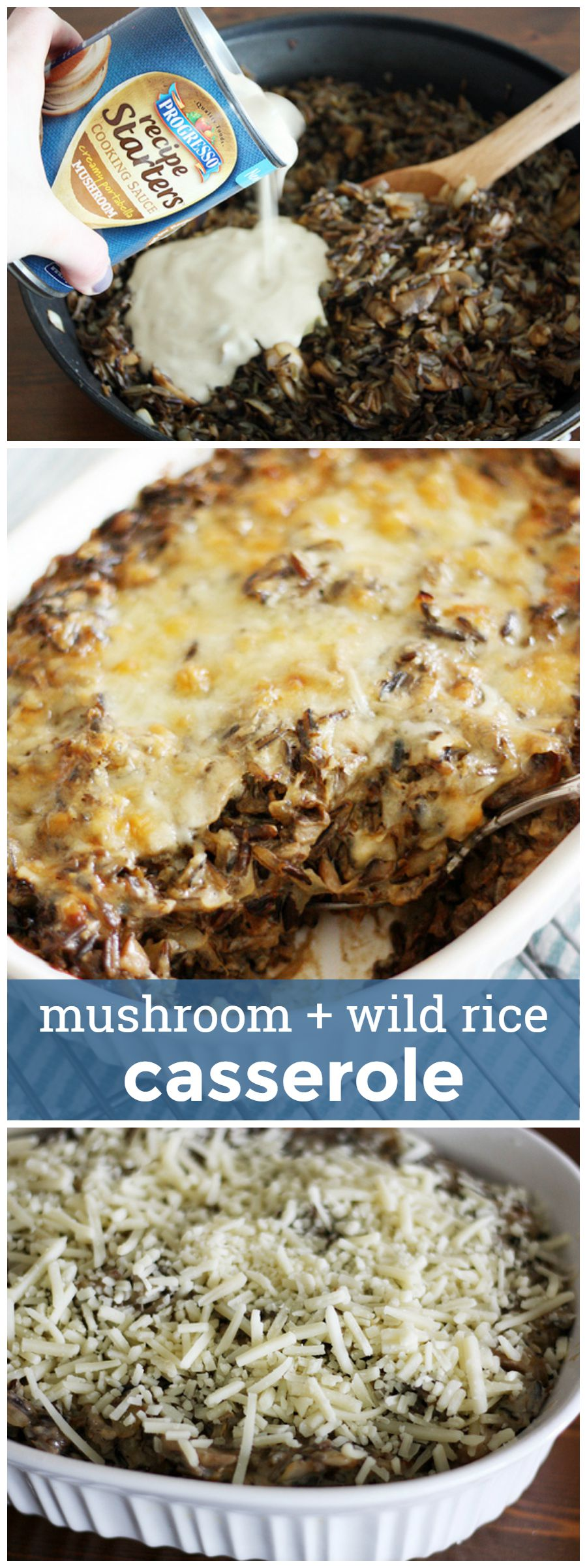 Mushroom and Wild Rice Casserole -- easy and delicious weeknight comfort food. girlversusdough.com @girlversusdough