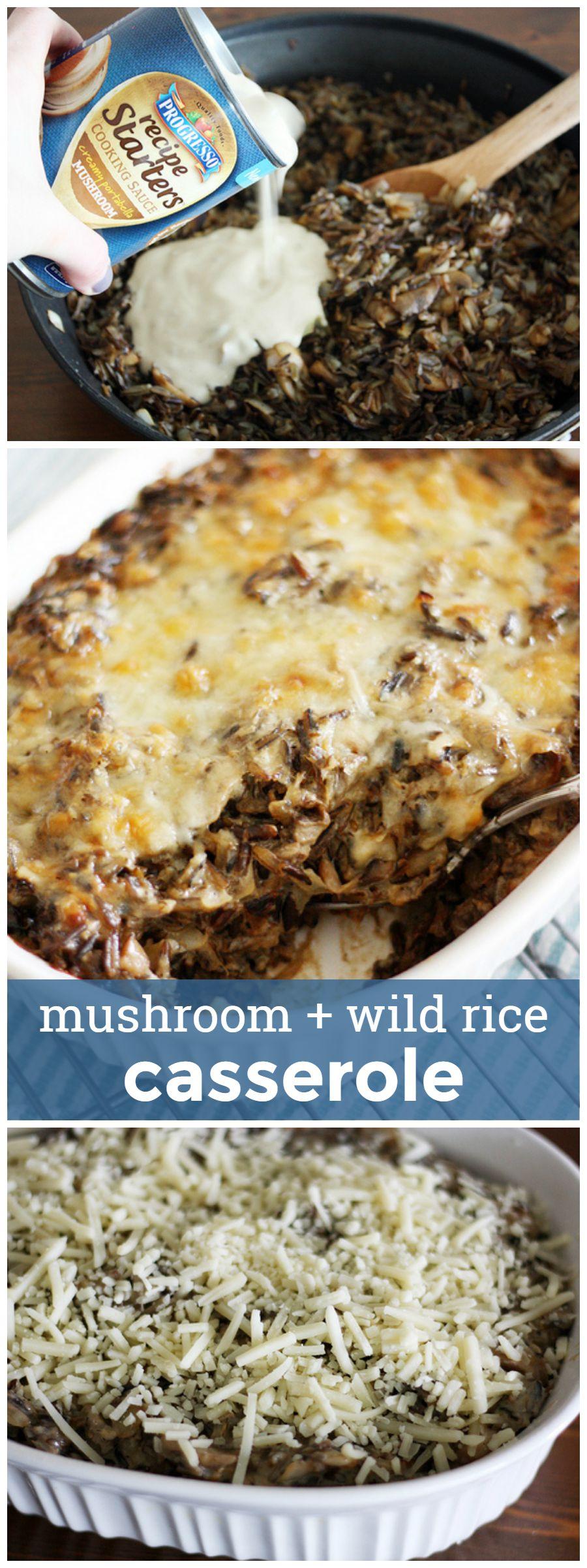 Mushroom and Wild Rice Casserole -- easy and delicious weeknight comfort food. girlversusdough.com @girlversusdough