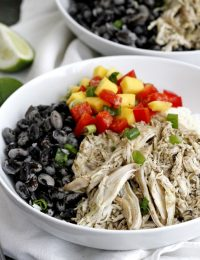 caribbean jerk chicken bowls
