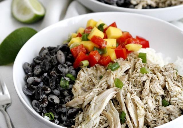 caribbean jerk chicken bowls