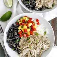 caribbean jerk chicken rice bean bowls