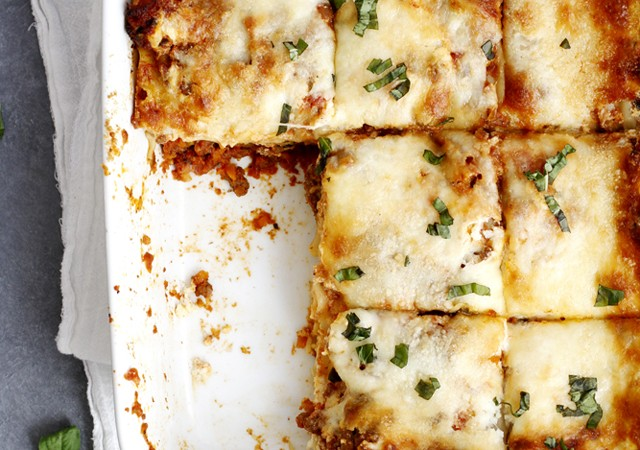 lighter lasagna bolognese