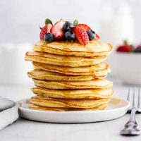 fluffy coconut flour pancakes stack